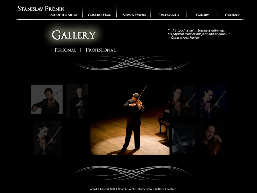 image gallery page design
